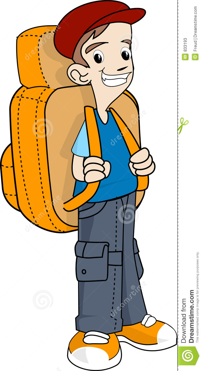 Backpacker clipart.