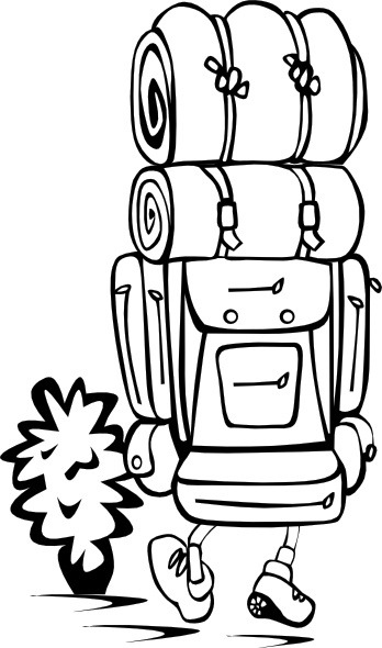 Backpacker clip art Free vector in Open office drawing svg ( .svg.