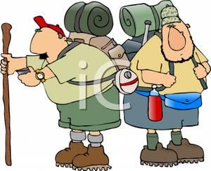 Cartoon Backpackers.