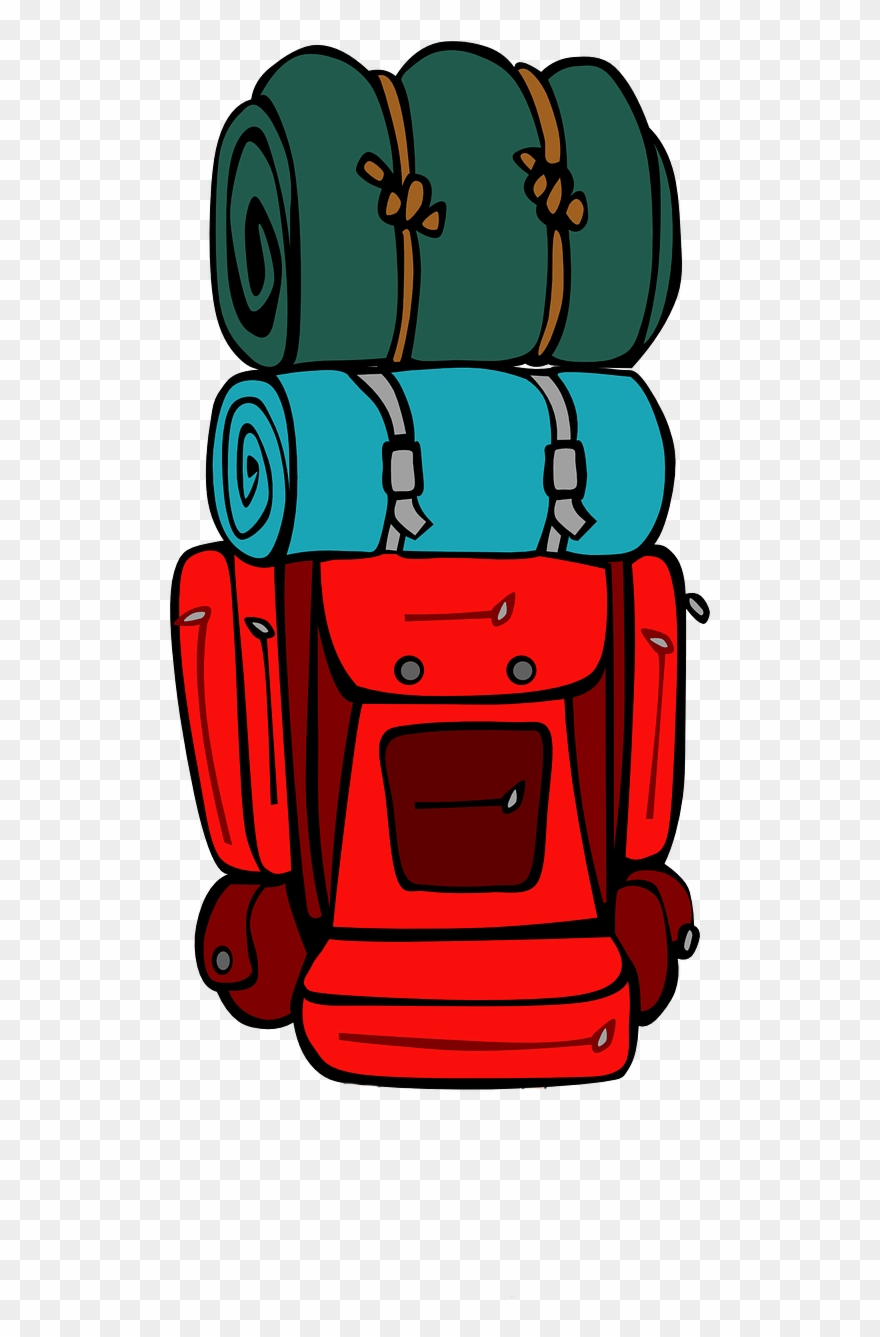 Camping Clipart Backpack.