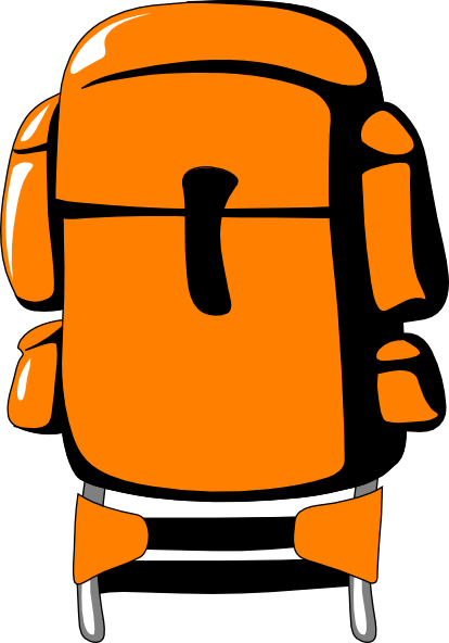 Free to Use & Public Domain Travel Backpack Clip Art.