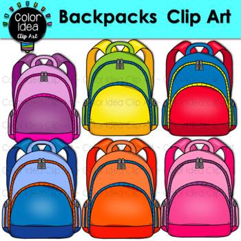 Backpacks Clip Art.