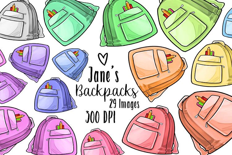 Kawaii Backpack Clipart.