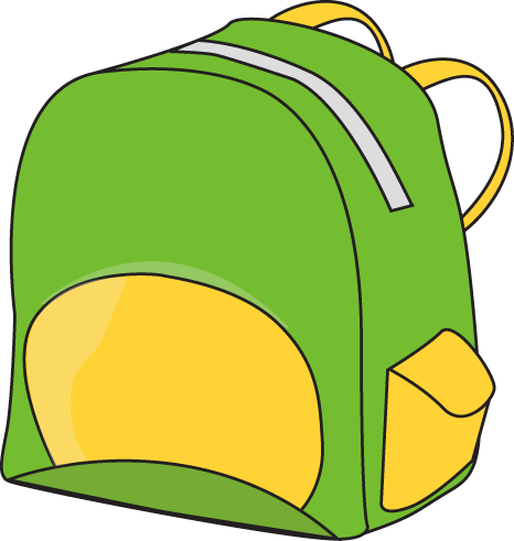 School backpacks clipart.