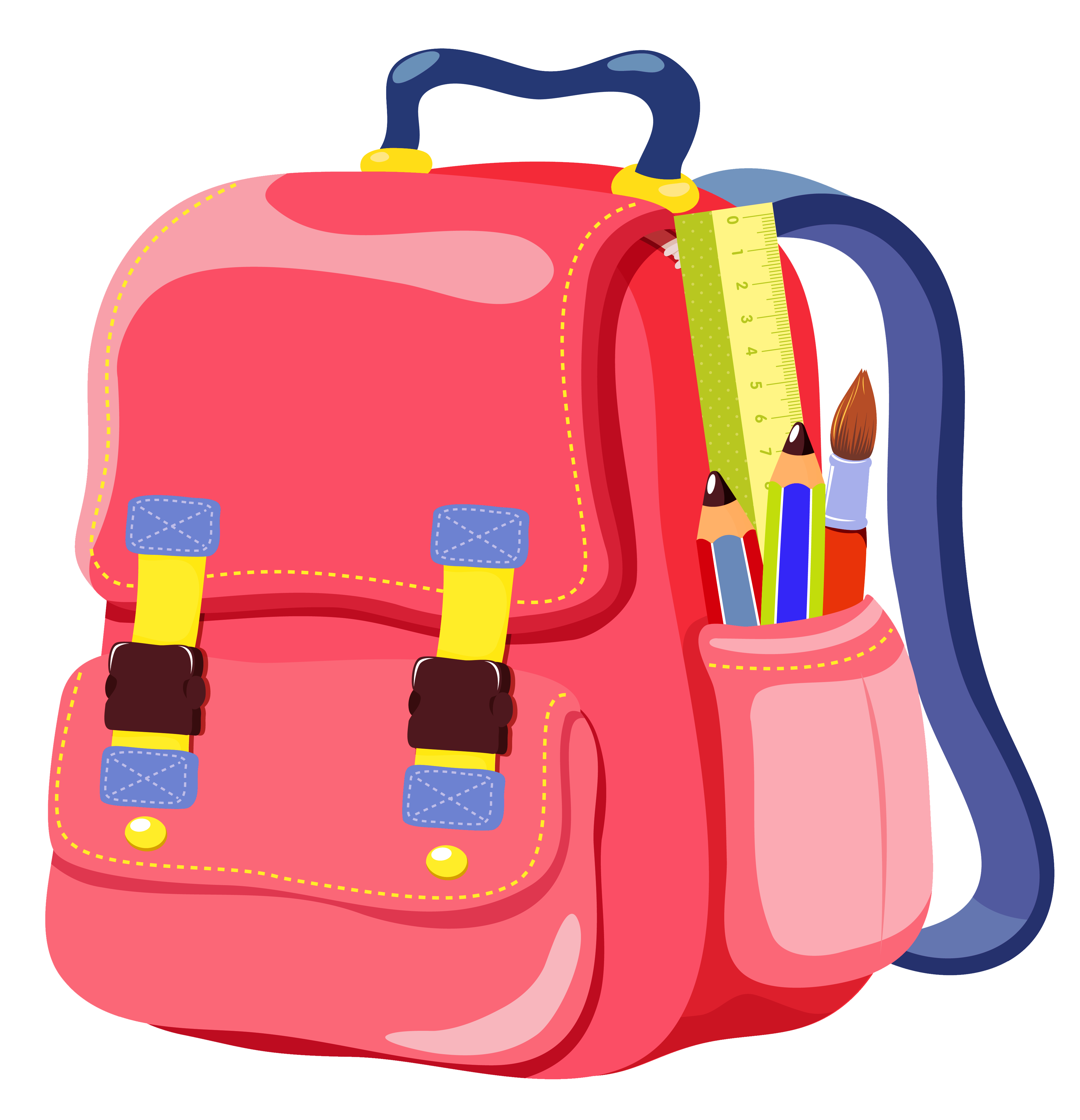 Kid with backpack clipart free images.