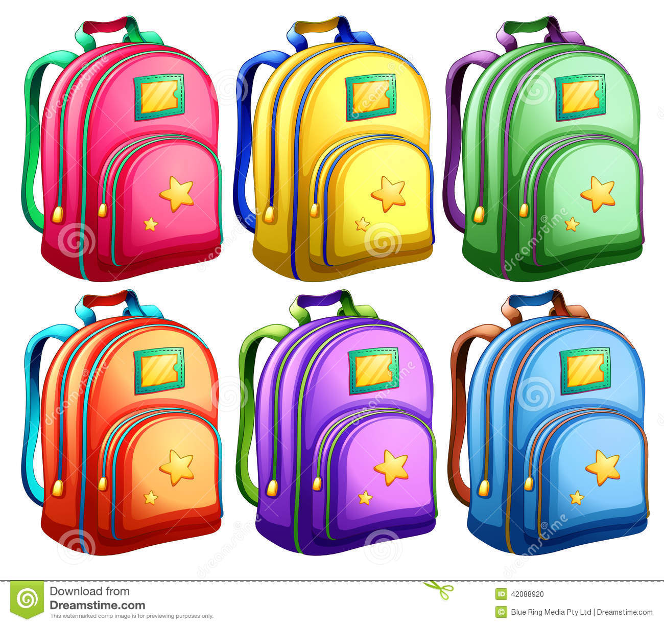 Pictures Of Backpacks Clipart.