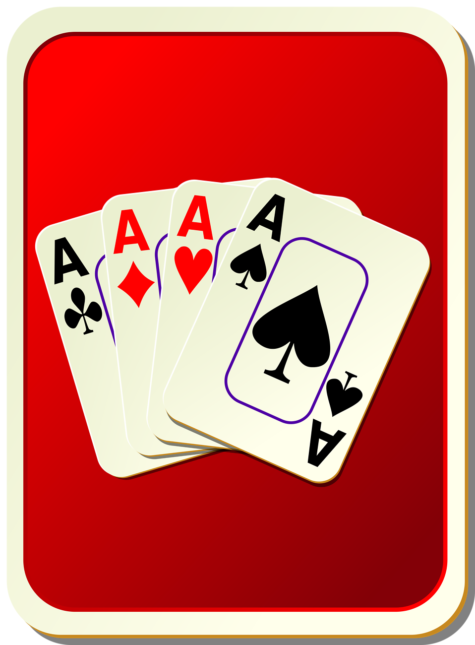 Playing card backs clipart.