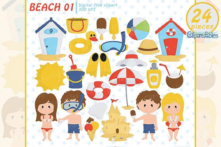 Summer beach clipart, beach fun time, Kids at the Beach.