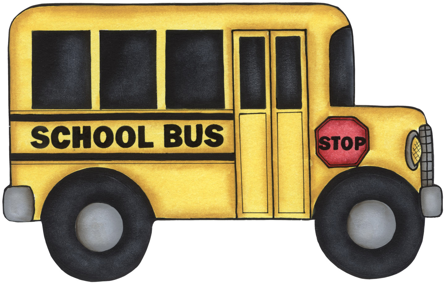 School clipart template clipground for Clipart bus