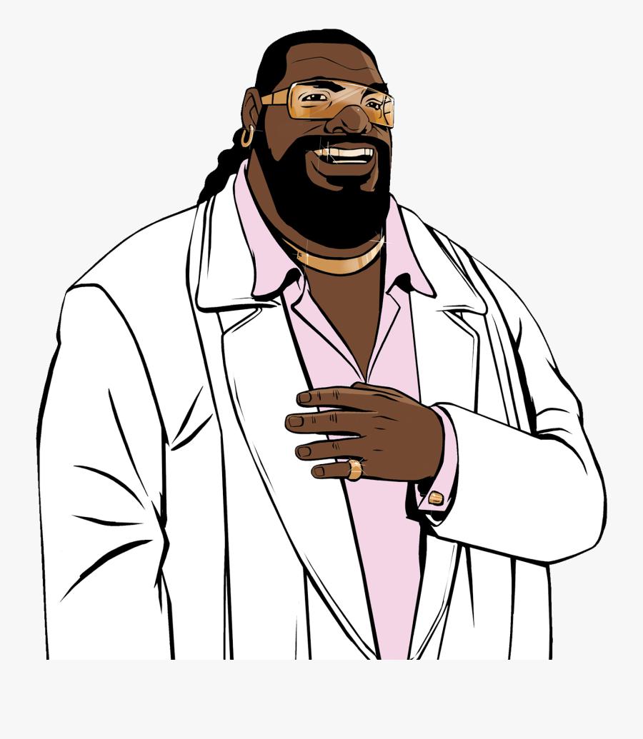 Backside Bearded Man Png.