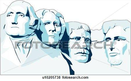 Mount Rushmore Clip Art in 2019.