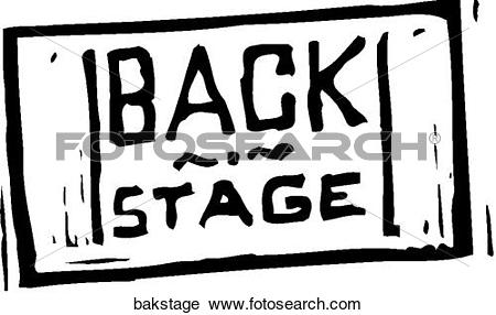 Clipart of Back Stage Pass bakstage.