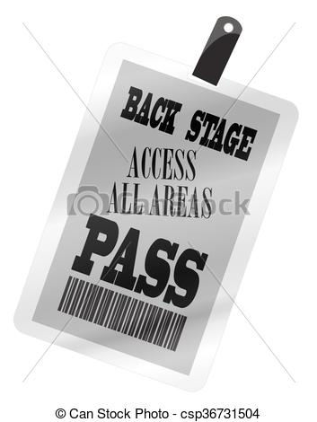 Backstage Pass Plastic.