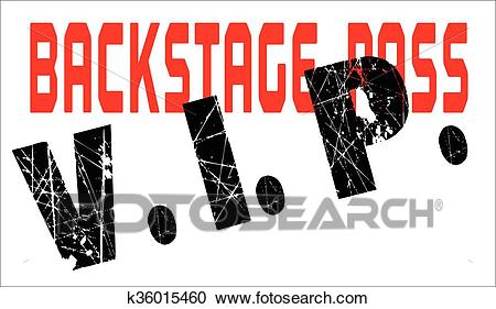 VIP BackStage Pass Clipart.