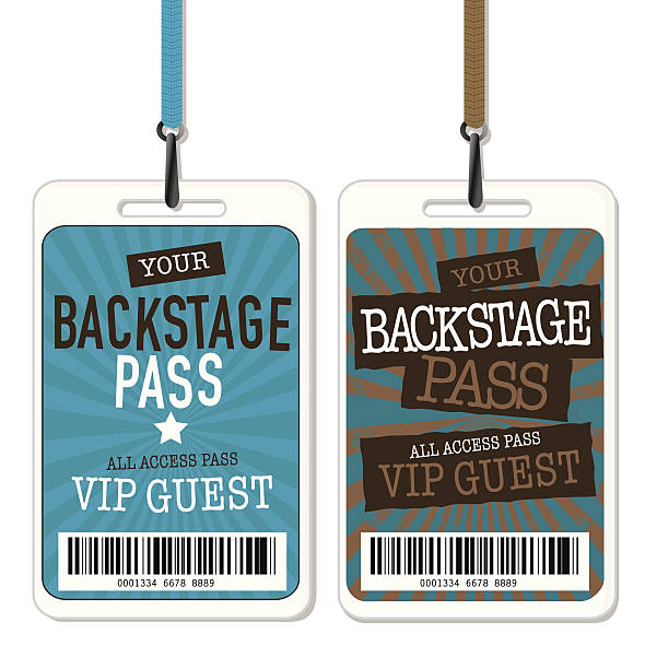 Backstage Pass Illustrations, Royalty.