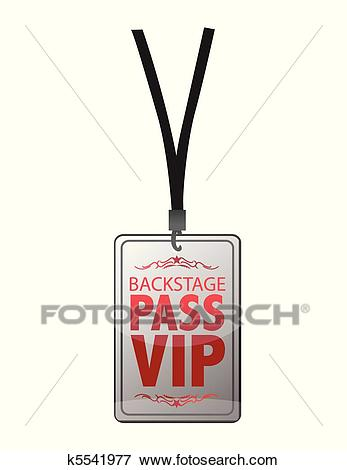 Backstage pass vip Clip Art.
