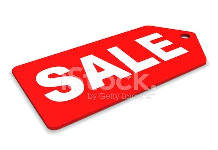 Sale Tag Laid Back Clipart Image.