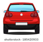 Rear view of car clipart.