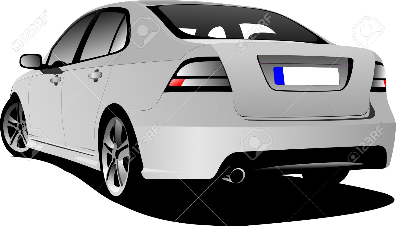 Car clipart back view.