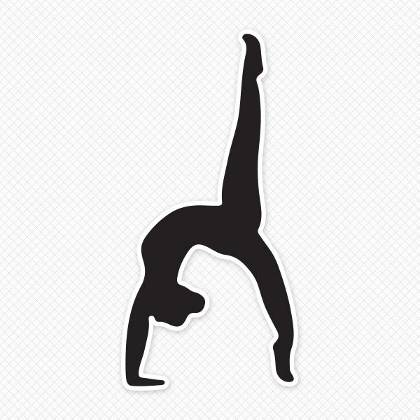 Gymnast clipart back tuck, Gymnast back tuck Transparent.