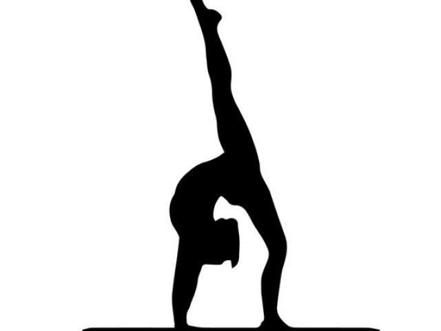 Gymnast clipart back walkover, Gymnast back walkover.