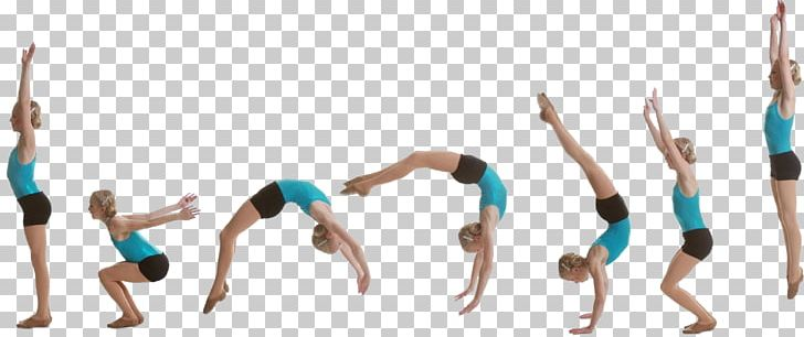 Handspring Gymnastics Cheerleading Tumbling Roundoff PNG.