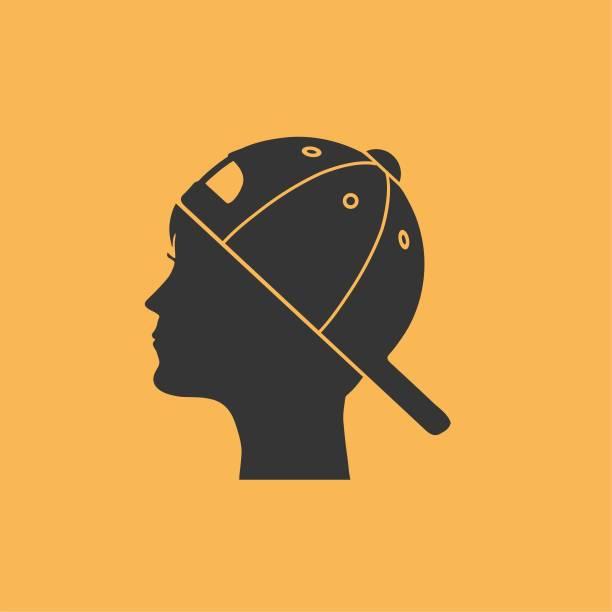 Backwards Hat Illustrations, Royalty.