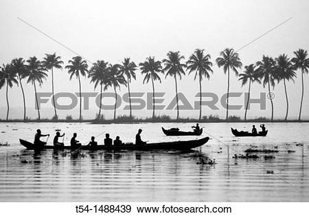 Stock Photograph of Backwaters in Kerala t54.
