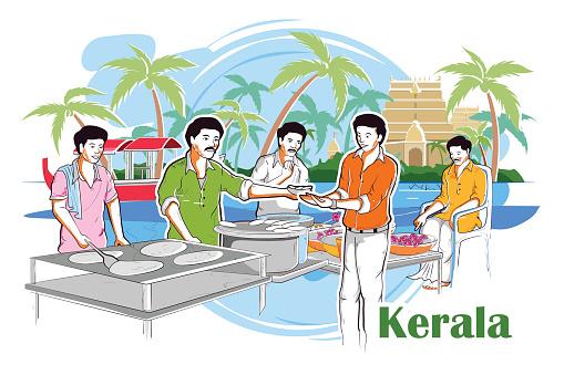 Kerala Backwaters Clip Art, Vector Images & Illustrations.