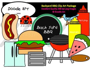 Backyard BBQ Clipart Pack.