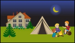 Backyard Camping clipart.