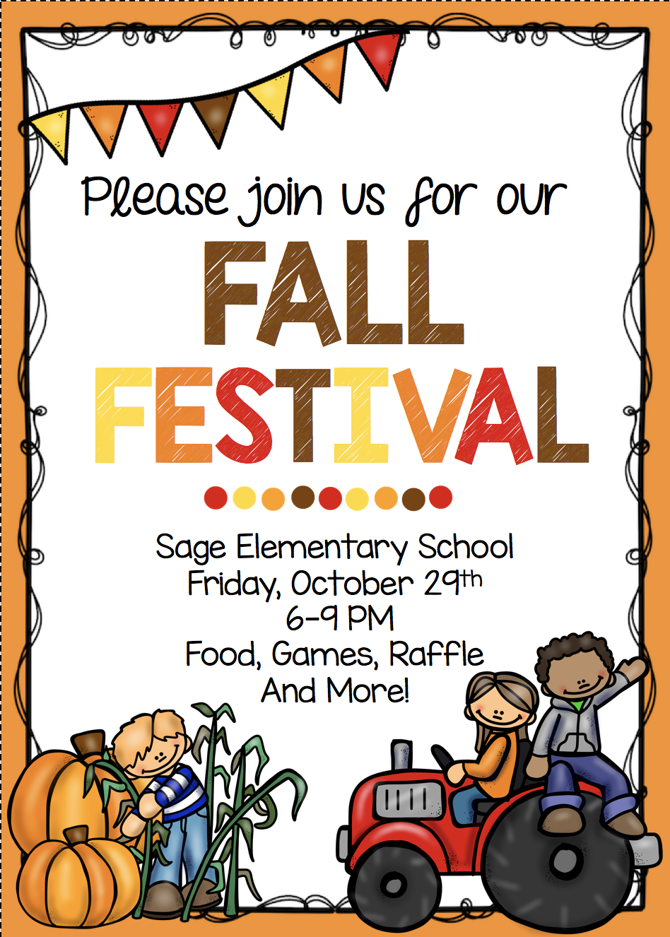 Fall Festival Invitation.