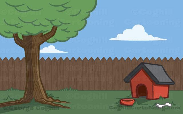 Backyard clipart.