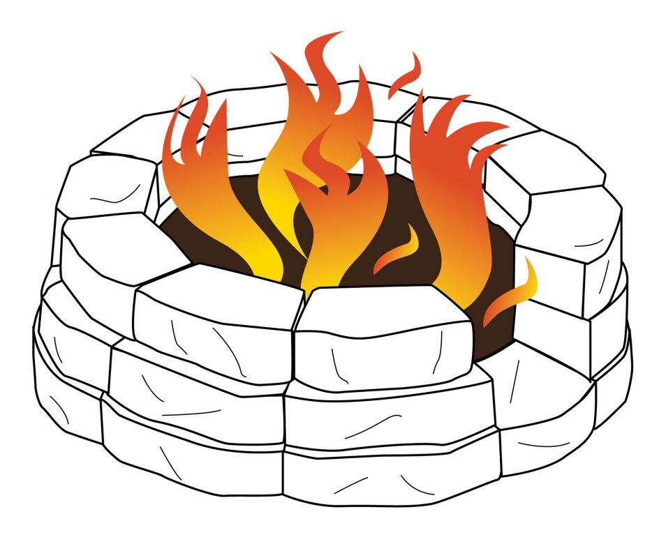 Outdoor Fire Pit Grill Clip Art.
