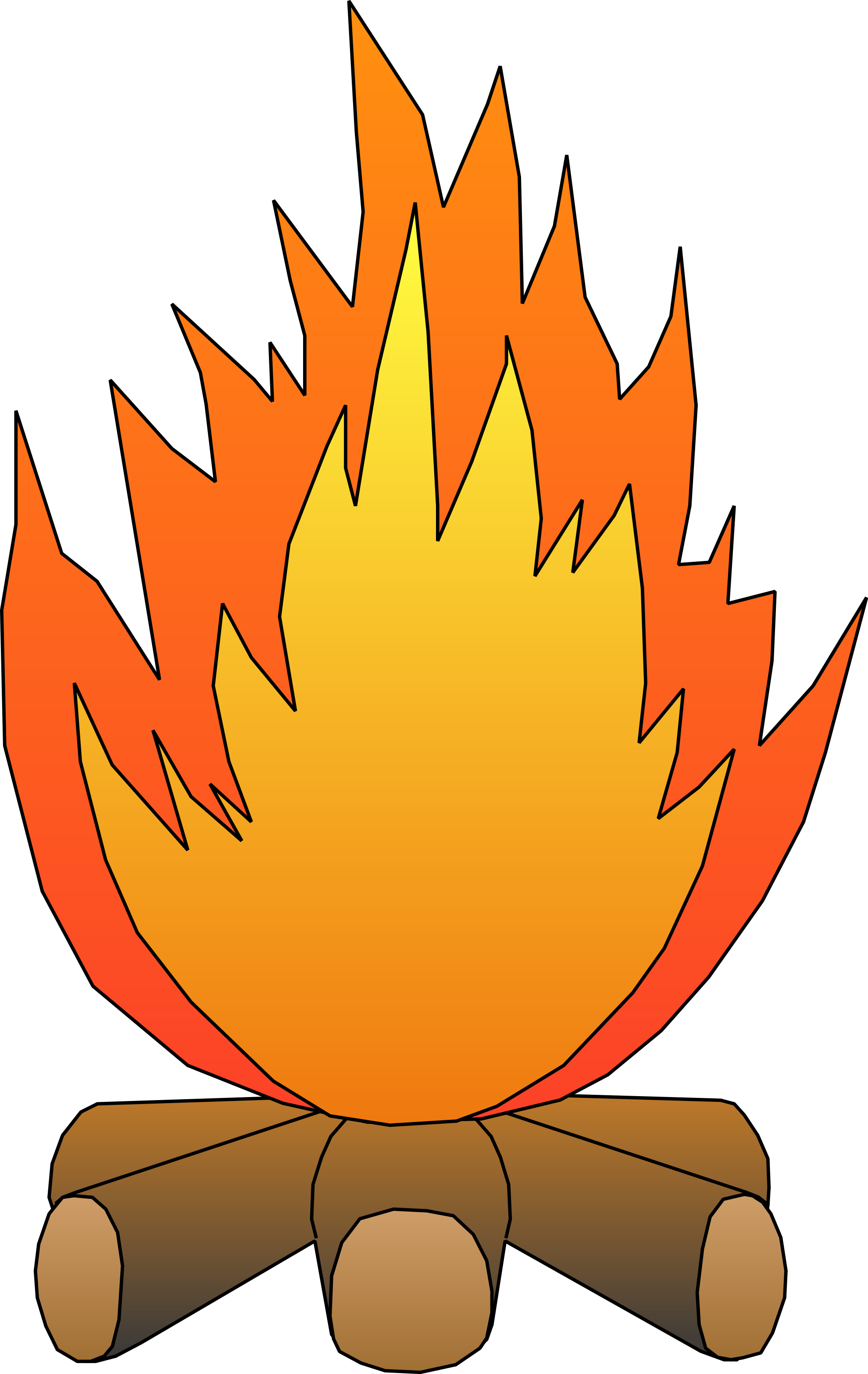 Clip Art Fire Pit Cooking.
