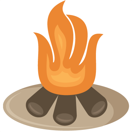 Campfire clipart background.