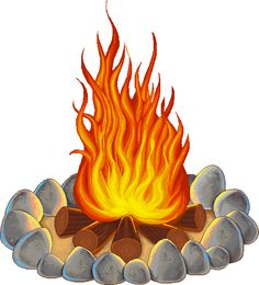 Backyard fire pit clipart #12