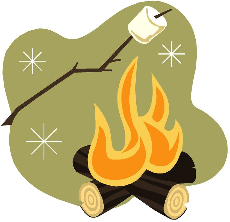 Clipart marshmallow campfire.