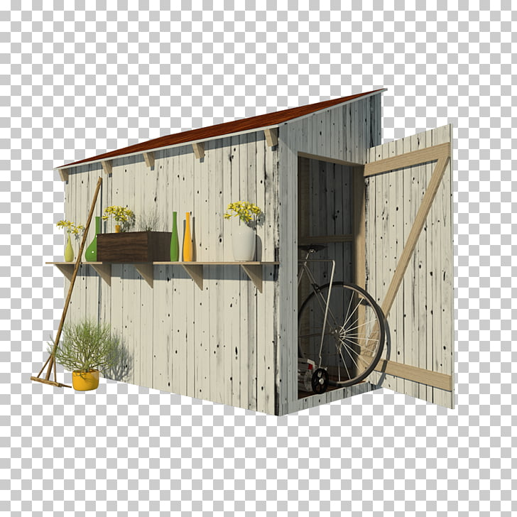 Shed Building Garden Backyard House plan, rooftop PNG.