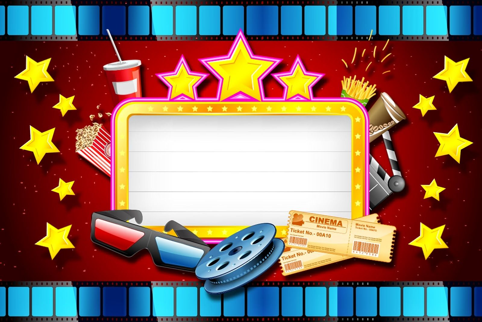 Movies Party: Free Printables and Invitations..