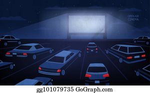 Outdoor Movie Clip Art.