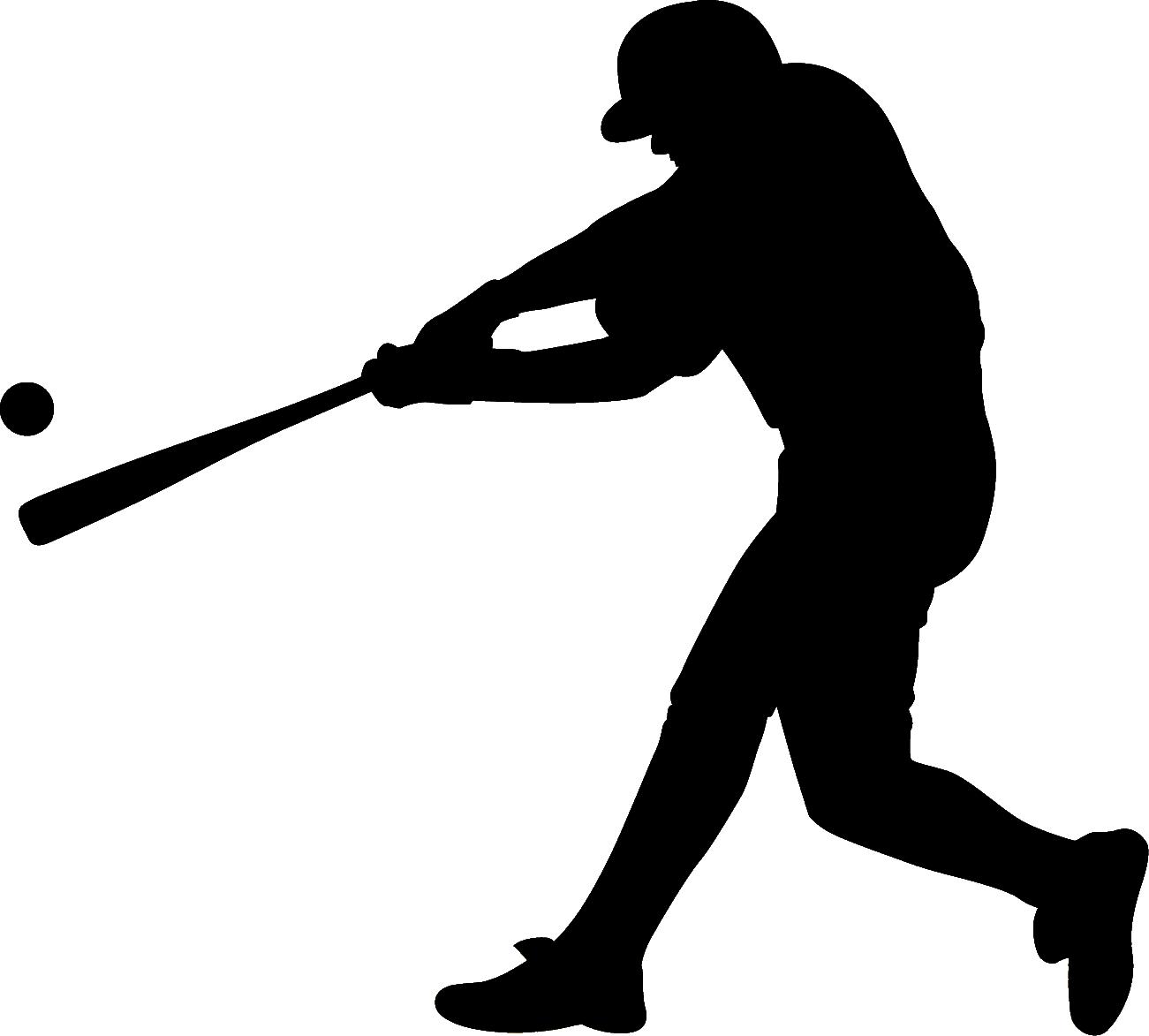 Baseball Batting Silhouette Clip art.