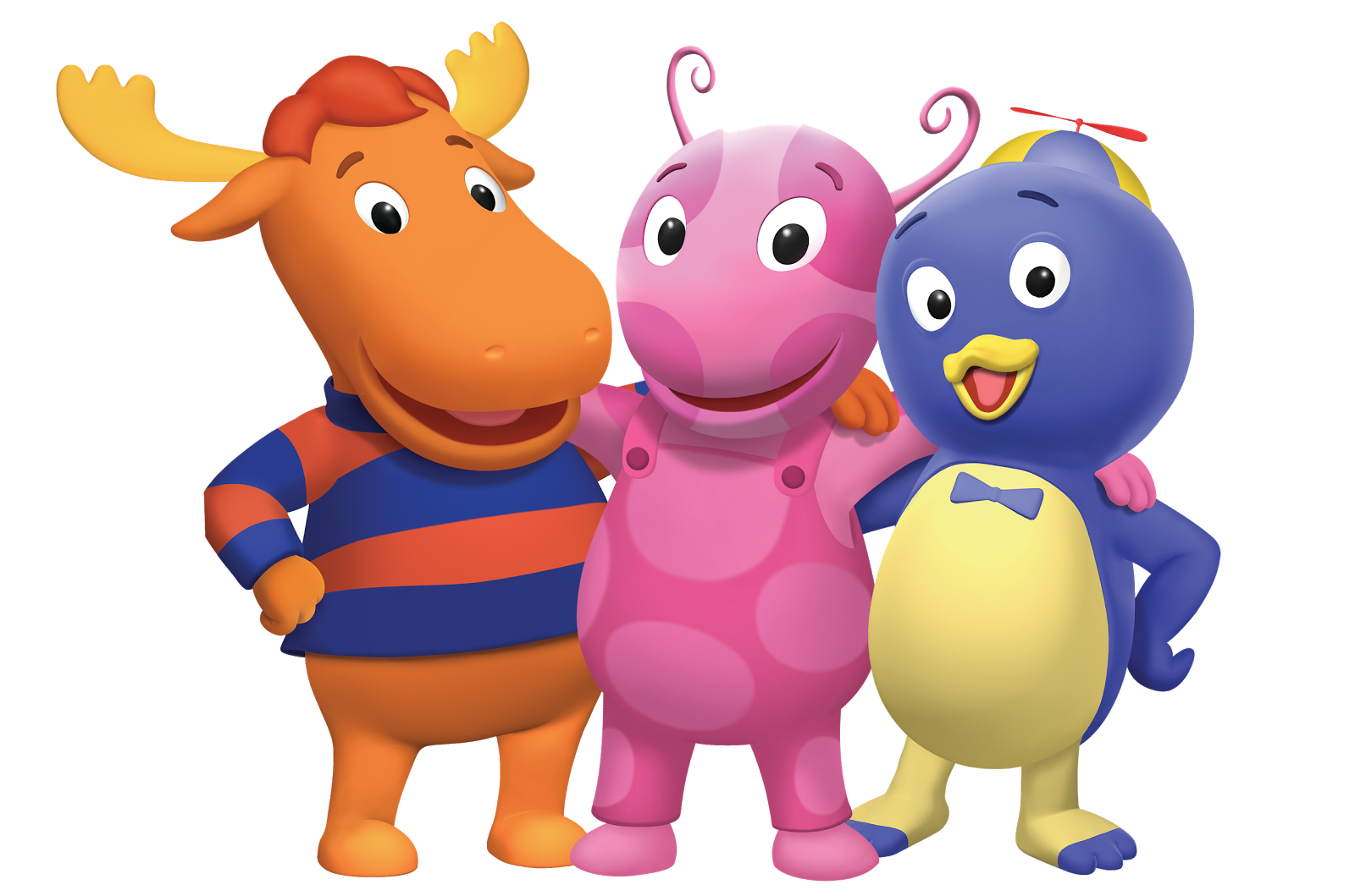 Cartoon Characters: The Backyardigans PNG pack.