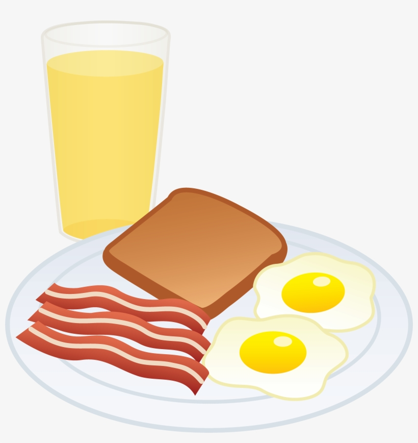 Clipart Of Breakfast, Eggs And Bacon.