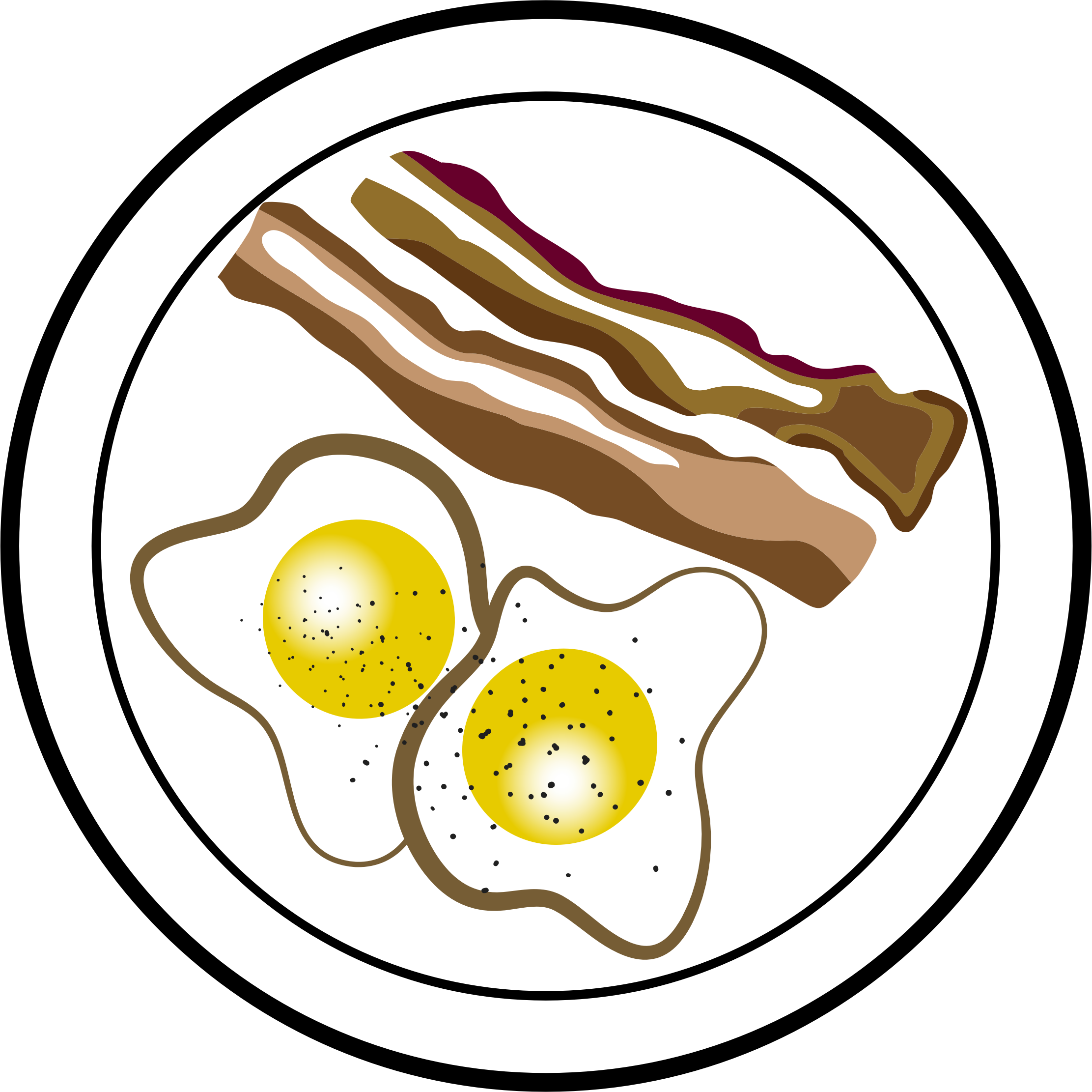 Bacon and Eggs Vector Clipart image.