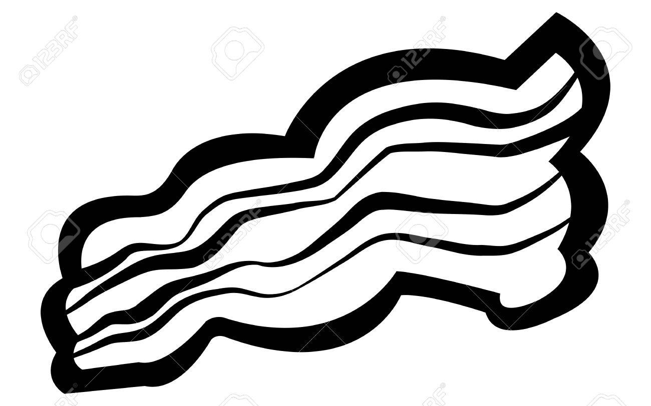 Bacon clipart black and white 1 » Clipart Station.