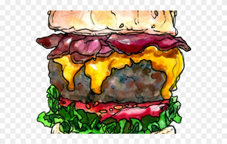 Burger Clipart Bacon Burger.