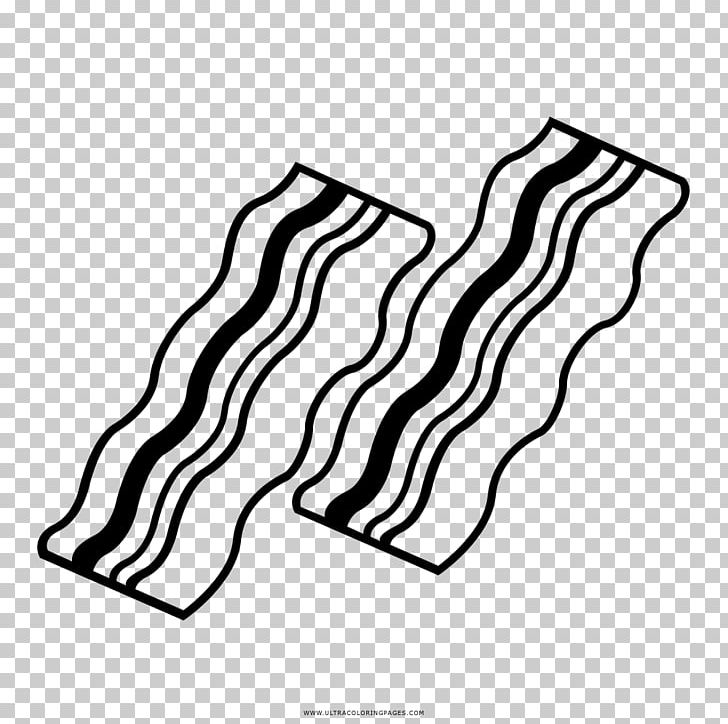 Bacon Stock Photography Drawing Black And White PNG, Clipart.