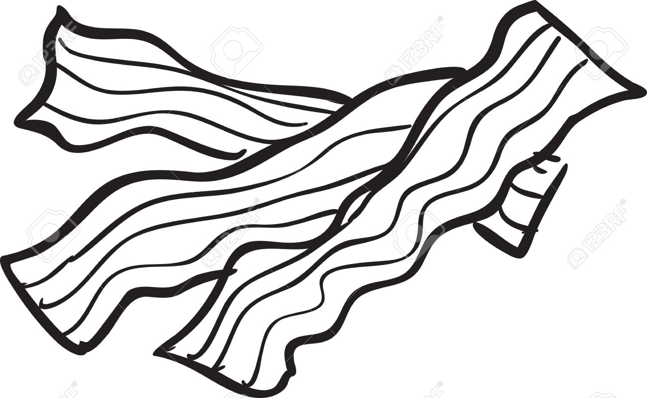 Bacon And Eggs Clipart Black And White.