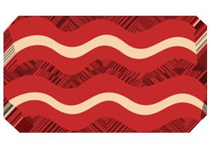 Bacon clipart transparent background, Bacon transparent.